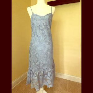 Banana Republic blue lace dress